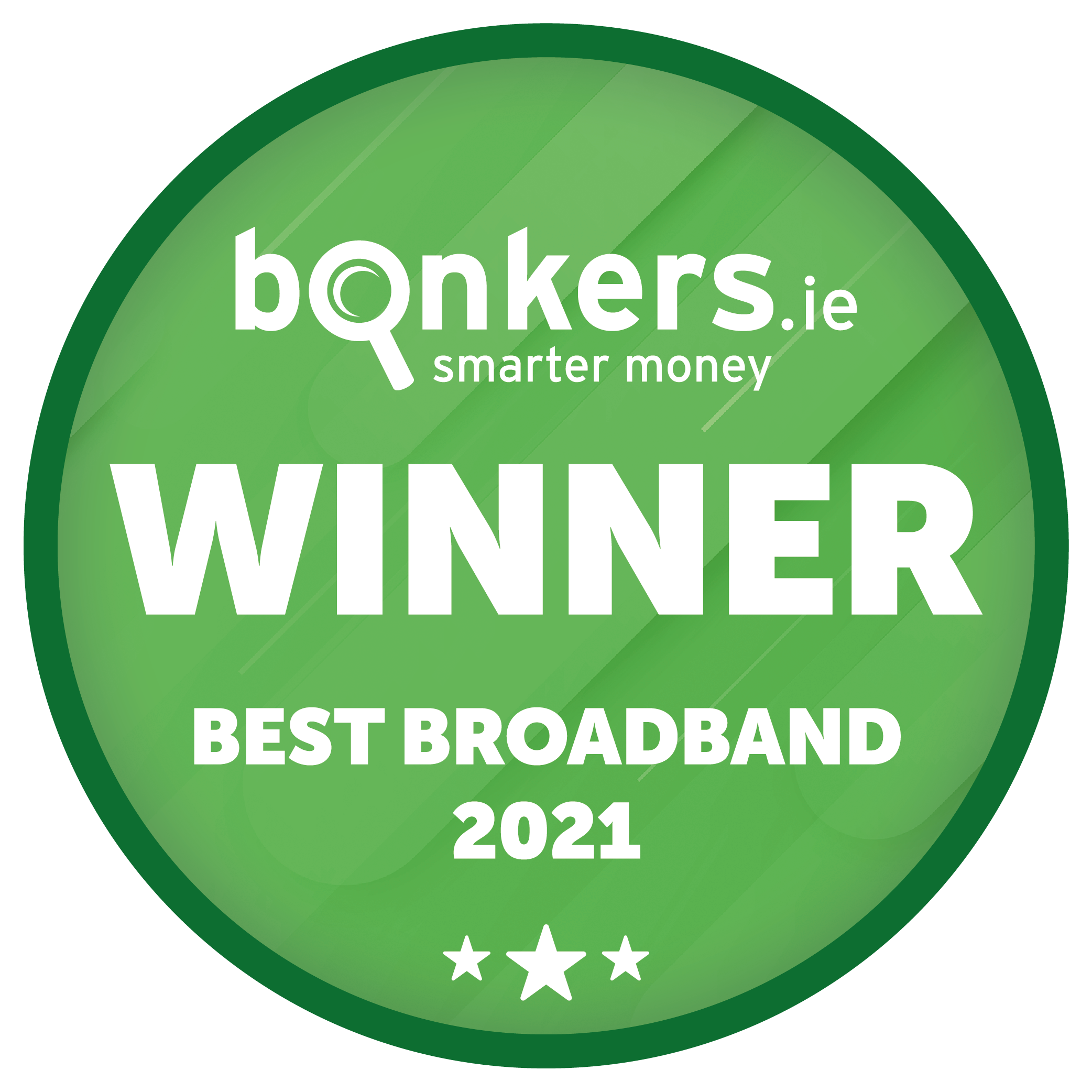 Award's logo The Best Broadband 2021